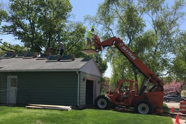 Loading Shingles for New Roof