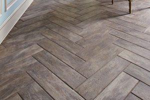 Ceramic Plank Tile in Herringbone Pattern
