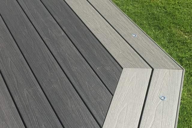 Composite Decking with different color border