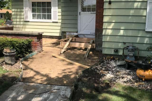 Concrete Porch & Entry Replacement | Holland, Michigan