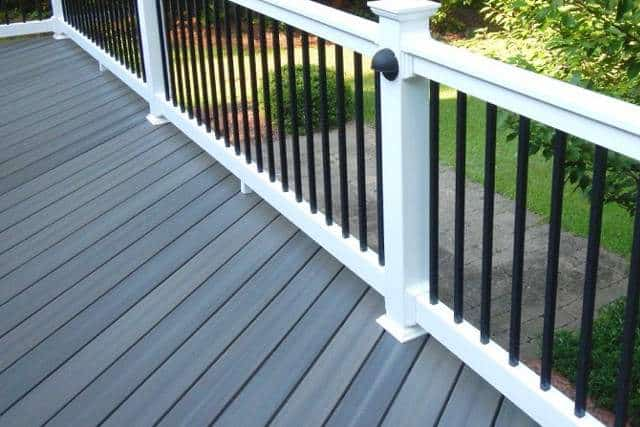 Grey Vinly Decking which looks like wood