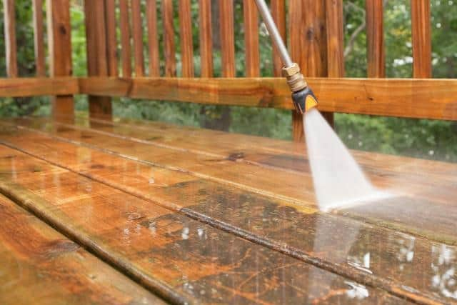 Power Washing Deck